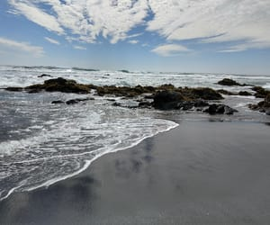 beach, sky, and cielo image