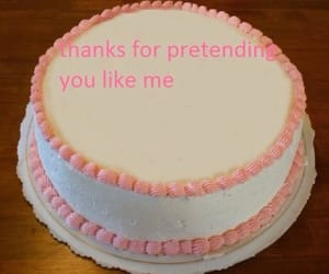 cake, funny, and pink image