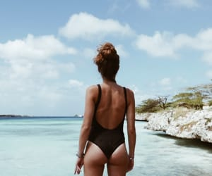 bathing suit, life, and sea image
