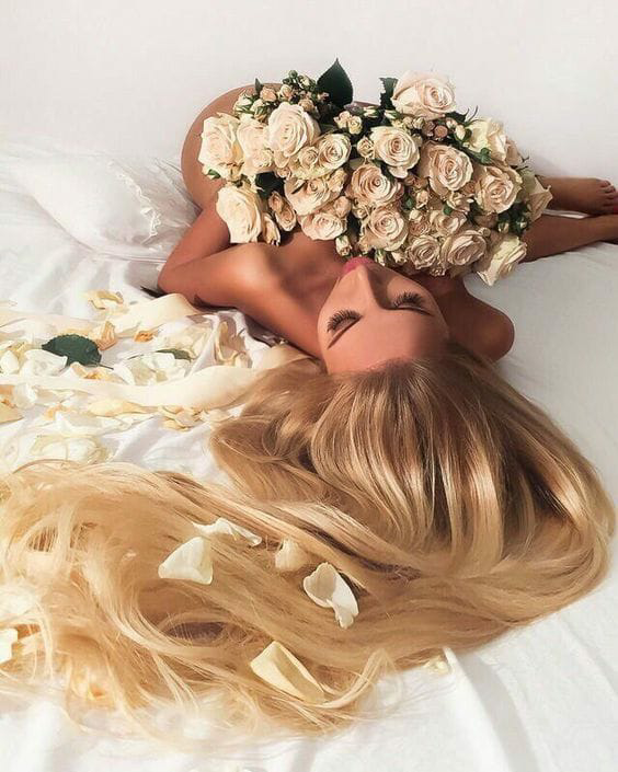 flowers, blonde, and beautiful image