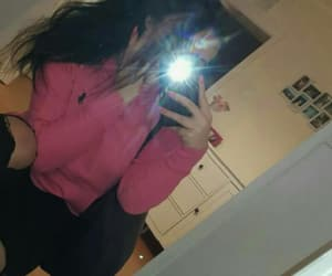 black hair, flashlight, and girl image