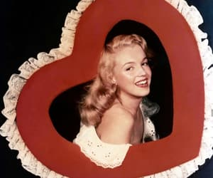 Marilyn Monroe, vintage, and heart image
