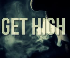 smoke, weed, and high image