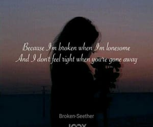 broken, lonesome, and music image