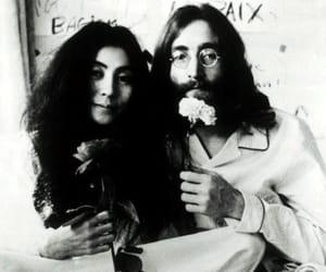 john and yoko, Yoko Ono, and john lennon image