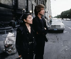 john and yoko, john lennon, and Yoko Ono image