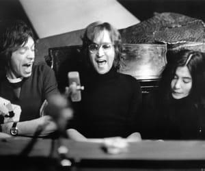 john lennon, Yoko Ono, and mick jagger image