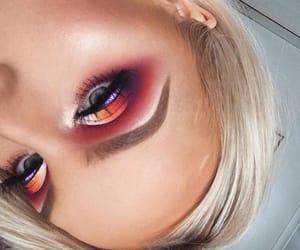 eyeshadow, makeup, and red theme image