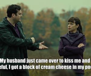 cream cheese, husband, and kiss image