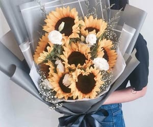 sunflowers, love, and flowers image