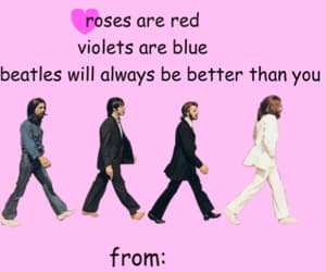 the beatles, funny, and card image