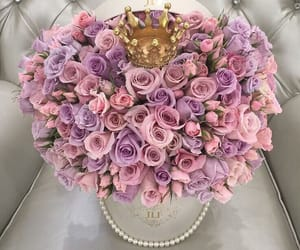 crown, flowers, and pink image