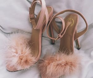 fur, high heels, and shoes image