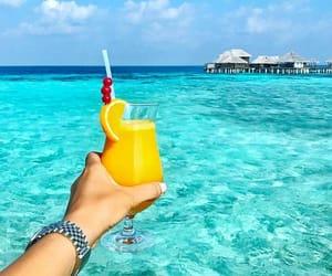 cocktail, holidays, and Maldives image