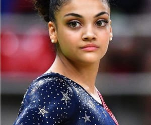 athlete, gymnastics, and olympics image