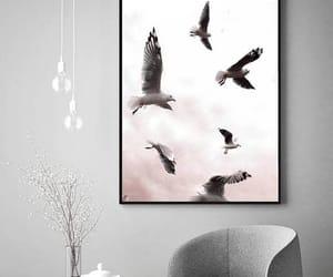 seagulls and blush pink image