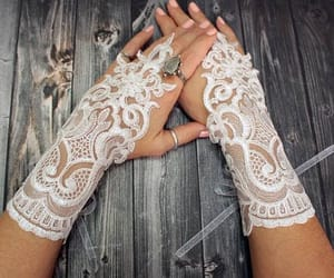 accessories, bridal, and opera gloves image