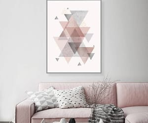 pink and grey and printable art image