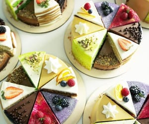 cake, chocolate, and FRUiTS image