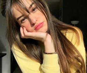 girl and yellow image