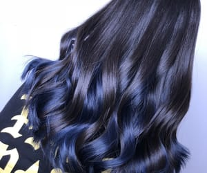 blue, bluish, and curls image