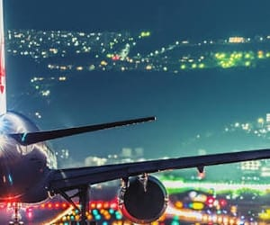 light, travel, and airplane image