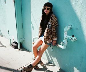 girl, fashion, and skate image