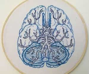 blue, brain, and embroidery image