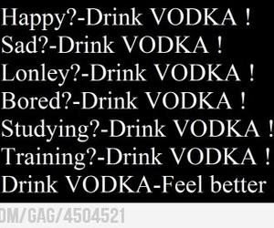 happy, vodka, and sad image