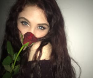 blue eyes, flower, and pretty girl image