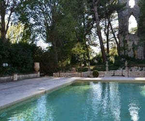 castle, provence, and pool image