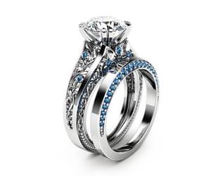 etsy, diamond alternative, and 2 carat moissanite image