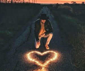 boy, dark, and heart image
