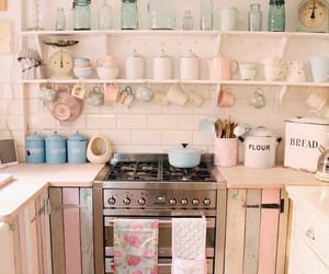 kitchen, pink, and recycle image