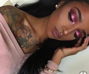bronze, pink, and wing eyeliner image