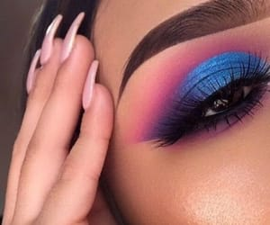 blue, eyeshadow, and glam image