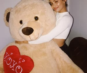 site models, love+tumblr+instagram, and giant teddy bear image