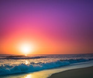 nature, sunrise, and water image