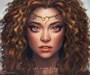 Leo, art, and zodiac image