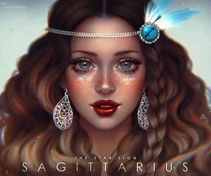 Sagittarius, art, and zodiac image