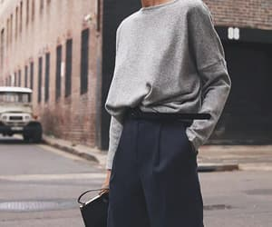 fashion, grey, and pants image