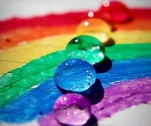 colors, rainbow, and water image