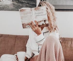 beauty, blonde, and books image