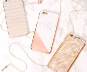 iphone, phone case, and gold image