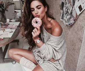 beauty, girl, and donut image