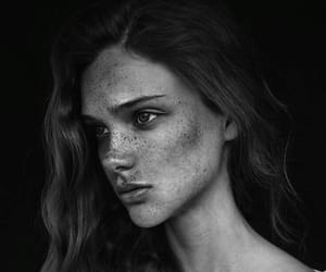 face, freckles, and model image