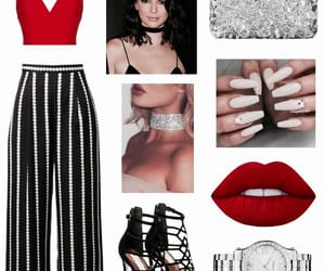 black, clothes, and lips image