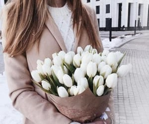 flowers, fashion, and white image