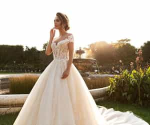 wedding, wedding dress, and beautiful image