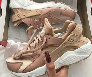 brown, sneakers, and fashion image